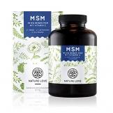 MSM Kapseln - 365 Stück im 6 Monatsvorrat. 1200 mg organischer Schwefel (Methylsulphonylmethan) Pulver mit Vitamin C. Frei von Zusätzen wie Gelatine oder Magnesiumstearat. Hochdosiert, vegan und hergestellt in Deutschland -